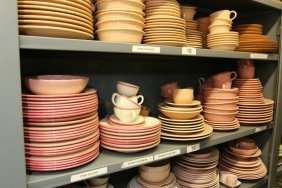 Grouping Of Of Pink And Peach Fiesta Ware, Etc.