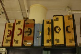 (7) Vintage Suitcases, Incl Two Skyway All