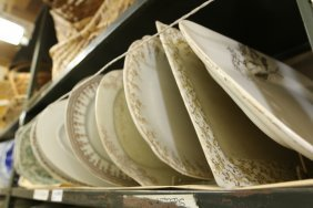 Grouping Of Transferware Platters Brown And Blue