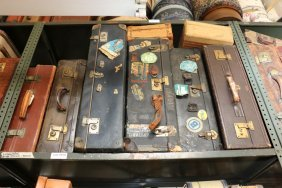 Eight Vintage Brown And Black Assorted Size