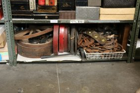 Collection Of Vintage Wagon Wheels, Horse Shoes,