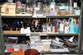 Collection Of Vintage Glass Bottles And