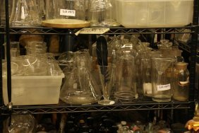 Assortment Of Chemistry Apparatus Domes, And