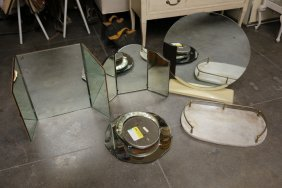 Grouping Of Vanity Mirrors Incl A Marble And