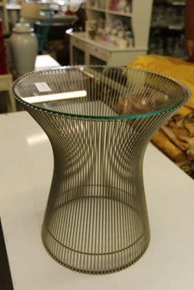 Small Side Table In The Manner Of Warren Platner.