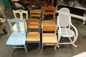 Seven Assorted Children's Chairs Incl Wooden And