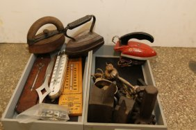 Grouping Of Thermometers, Miniature Anvils,