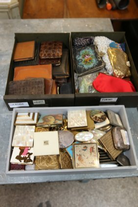 Large Collection Of Wallets, Purses, And