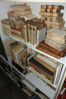 Large Grouping Of Books Incl Leather Bound Bellum