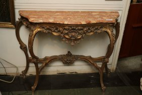 Rouge Marble Console Table.