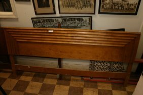 Mid Century King Size Sculptural Head Board With