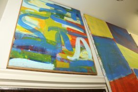Two Abstract Oil On Canvas Paintings.