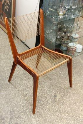Jacques Guillon Cord Chair