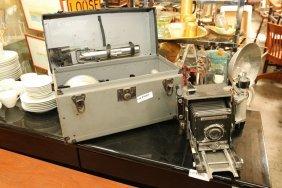 Graflex Press Camera W/ Box & Accessories