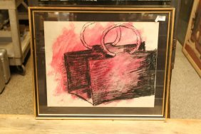 Pink Painting Of A Hand Bag