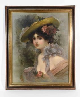 G. ERLOT, C.1890/1900 OIL PAINTING PORTRAIT