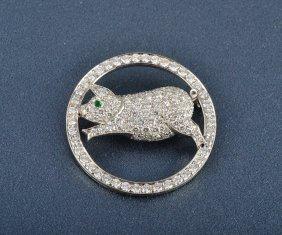 Cartier London Diamond & Platinum Pig Brooch