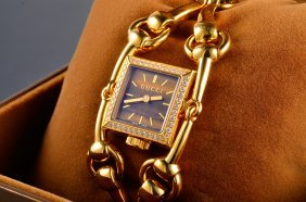 Gucci Gold And Tiger Eyes Dial Lady's Wristwatch