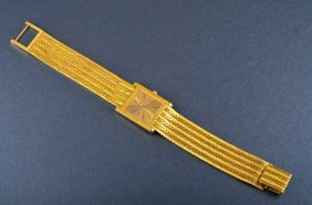 Piaget Yellow Gold Man's Wrist Watch