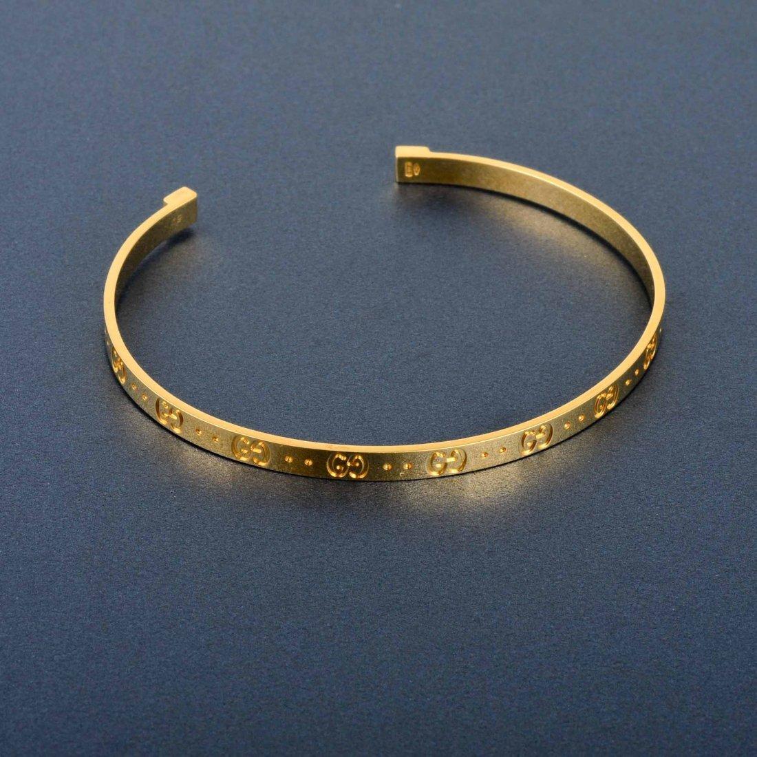 Bangle Bracelets Gold Gucci Gold Open Bangle