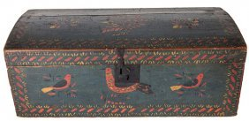 Painted Decorated Dome Top Trunk