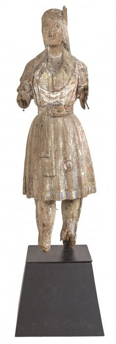 Carved Indian Maiden Cigar Store Figure