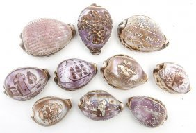 Lot Of Souvenir Cameo Shells