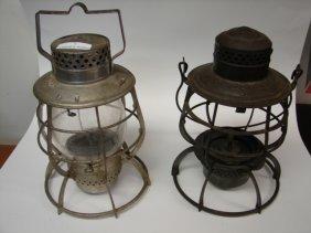 Lot (2) Railroad Lanterns/Lamps