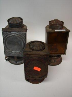 Lot(3) Tin Lamps/lanterns