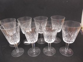 8 Waterford Lismore Water Glasses