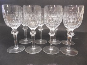 8 Waterford Curraghmore Claret Wine Glasses