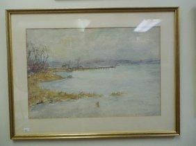 Watercolor Of Pelham Bay, Ny 1928