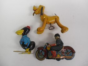 Lot 3 Tin Wind Up Toys