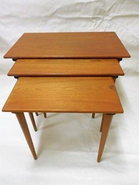 Set 3 Danish Modern Teak Nesting Tables