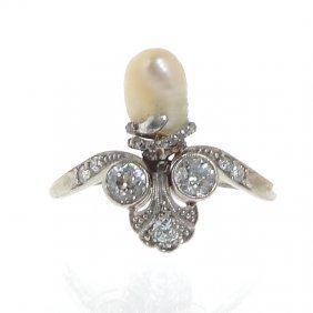 Palmette-shape Ring, Beginning Of XX Th Century Plat