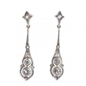 Art D�co Earrings,  20.-30. XX Th Century Gold  ~ 0