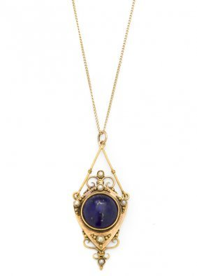 Necklace With Lapis Lazuli, 19th/20th Century; ~ 0.580