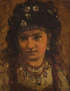 Franciszek Streitt (1839 - 1890) Gypsy Woman, 1878; Oil