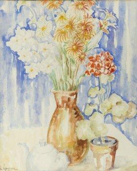 Jozef Kowner (1895 - 1967) Flowers In Vase, 1957;