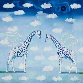 Katarzyna Misiorska (b. 1987) The Giraffe Ii, 2015, Oil
