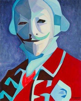 Damian Cosma (b. 1976) Lord Anonymous, 2016, Acrylic On