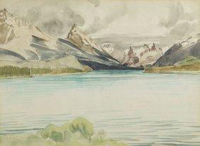 Rafal Malczewski (1892 - 1965) Mountain Landscape,