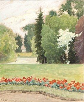 Jozef Wodzinski (1859 - 1915) In The Park, Gauche On
