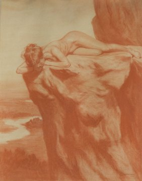 Emil Ranzenhofer (1864 - 1930) Nude, 1905, Sanguine On