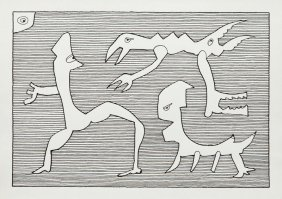 "Jan Grzegorz Issaieff (b. 1953) ""a.r.c.h.e."", 1998, Ink"