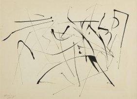 Ireneusz Pierzgalski (b. 1929) Composition, 1958, Ink