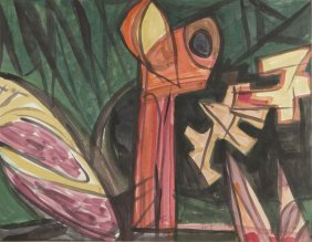 Boguslaw Szwacz (1912 - 2009) Composition, 1948, Gauche