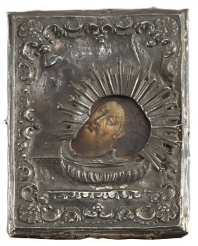 A Travelling Icon Of The Head Of John The Baptist In