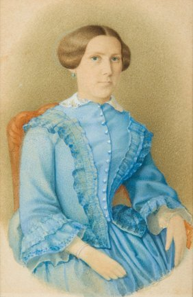 Unknown Artist, 19th Century, Portrait Of A Lady In