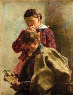 Waclaw Szymanowski (1859 - 1930), Thoughtfulness, 1884,